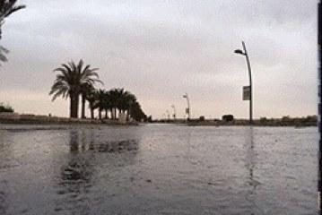 أمطار متوسط إلى غزيرة على العاصمة الرياض مساء اليوم ١٠-٥-١٤٣٥هـ